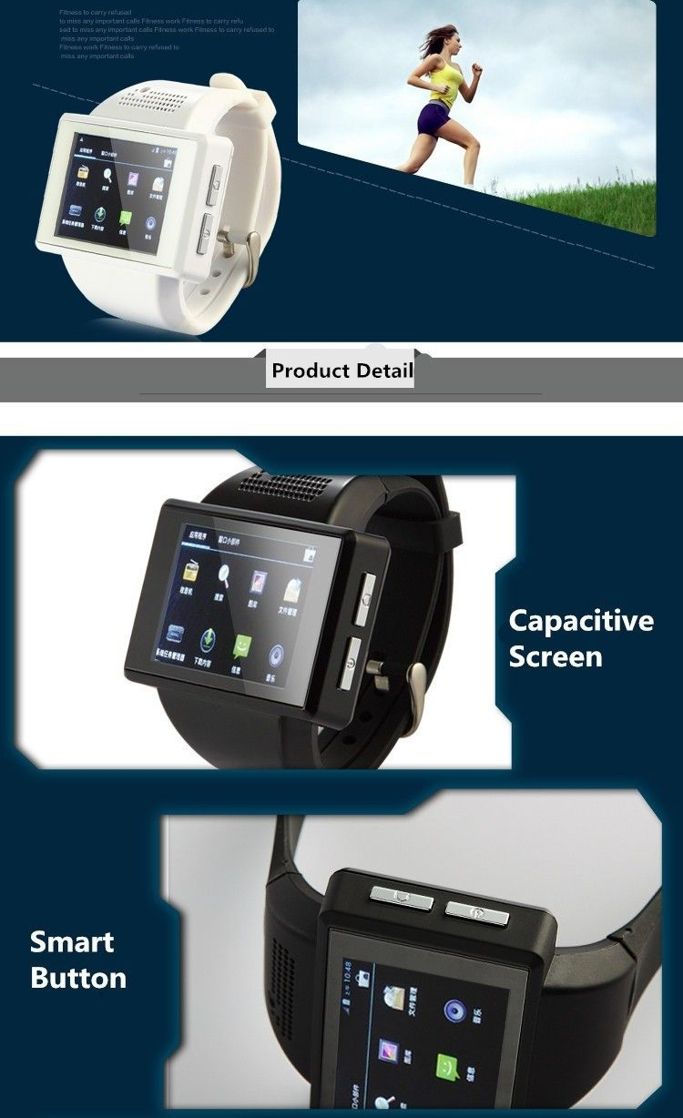 4ff9dad98 2016 An1 smart watch phone Android mobile smartwatch AN1 with touch screen  camera bluetooth WIFI GPS single SIM ...