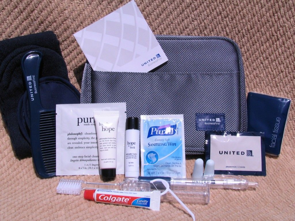 Amenity Kit Review United Airlines Businessfirst May 2012