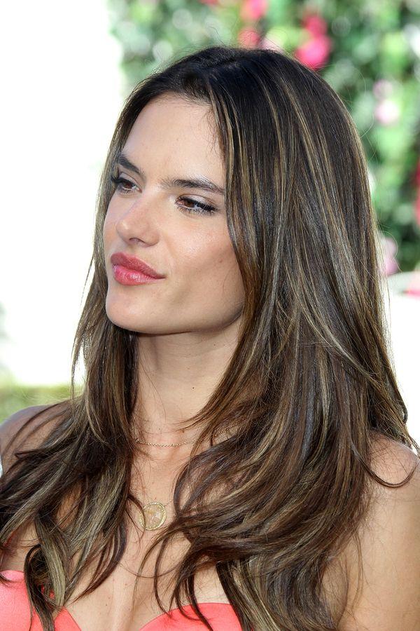 Www Hairspicture Com Wp Content Uploads Dark Straight Hair Highlights Bigstock Los Angeles Mar Alessan Balayage Hair Hair Color Balayage Balayage Straight Hair