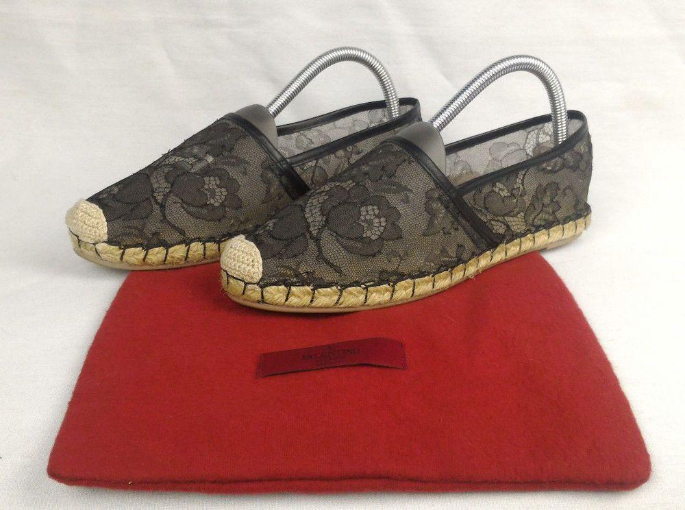 2f49cfb4388 100% Authentic VALENTINO GARAVANI Lace Espadrilles 38 NEW | Yor ...