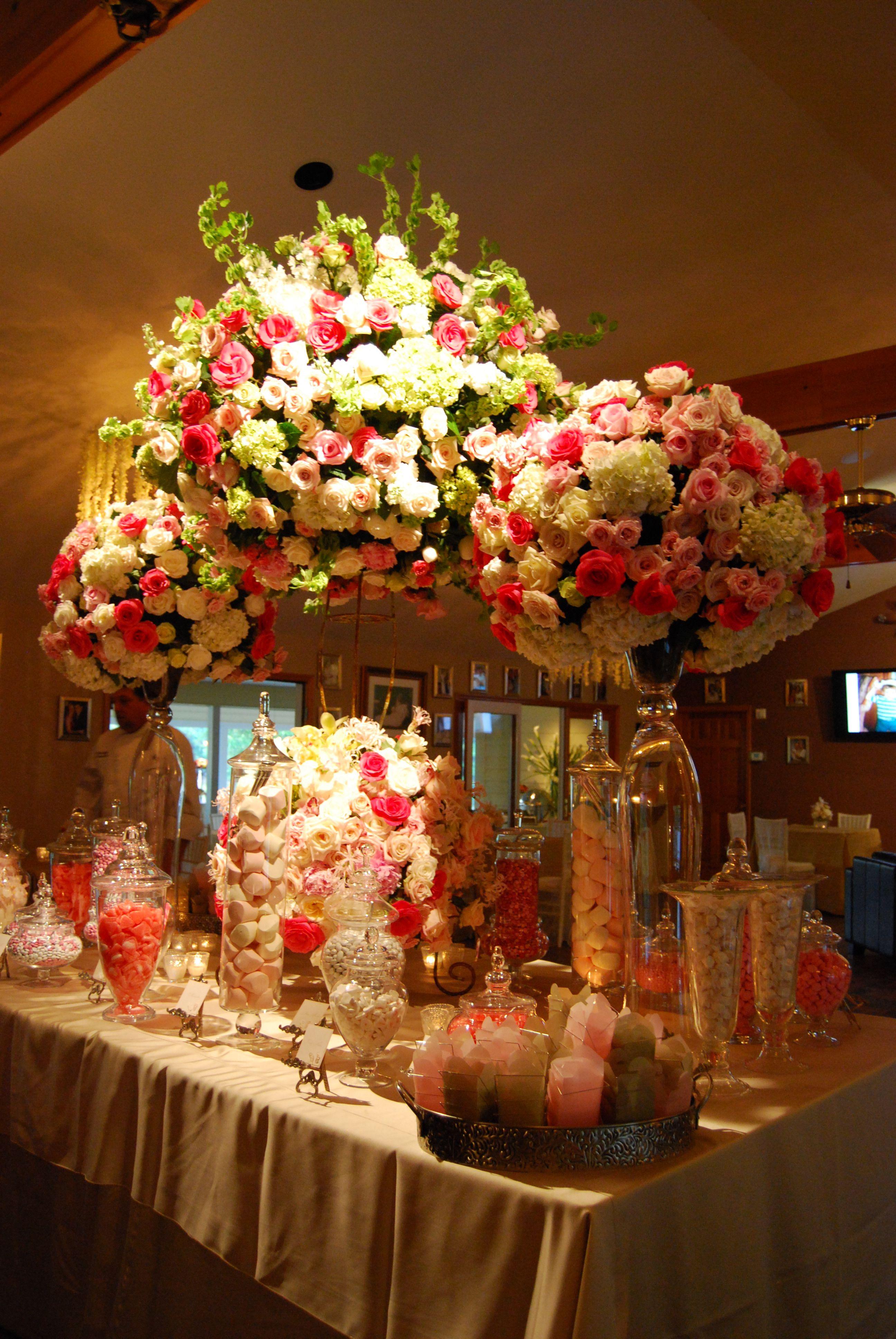 Candy station dessert buffets pinterest wedding