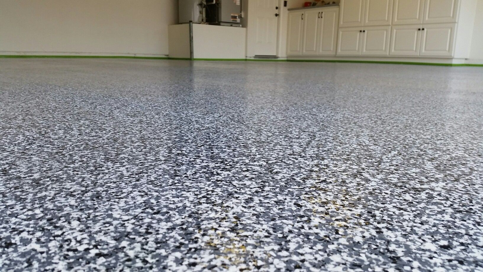 Garage Floor Paint Chips Full Broadcast Of Paint Chip Epoxy Garagefloor Epoxy Coatings