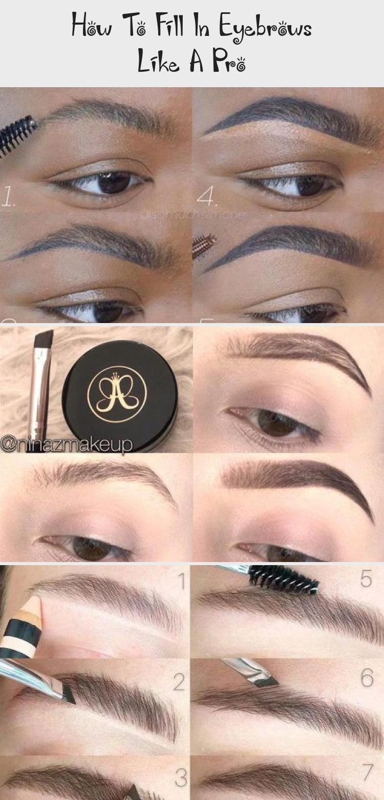 Learn here how to fill in eyebrows professionally. Forget once for all about asymmetry and smudges with our easy and helpful tutorial. #Eyemakeup2019 #EyemakeupNatural #EyemakeupSilver #EyemakeupProm #EyemakeupRed #eyebrowstutorial