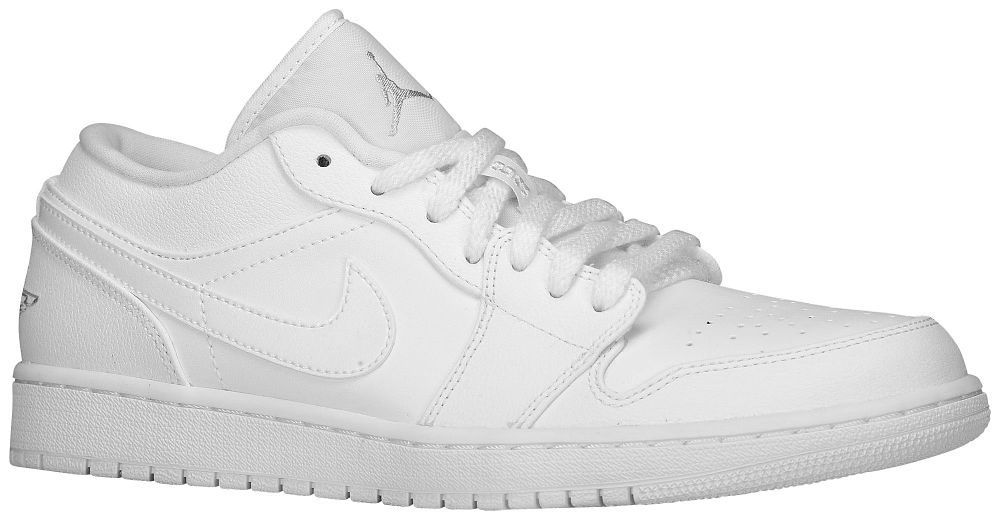 low white jordans