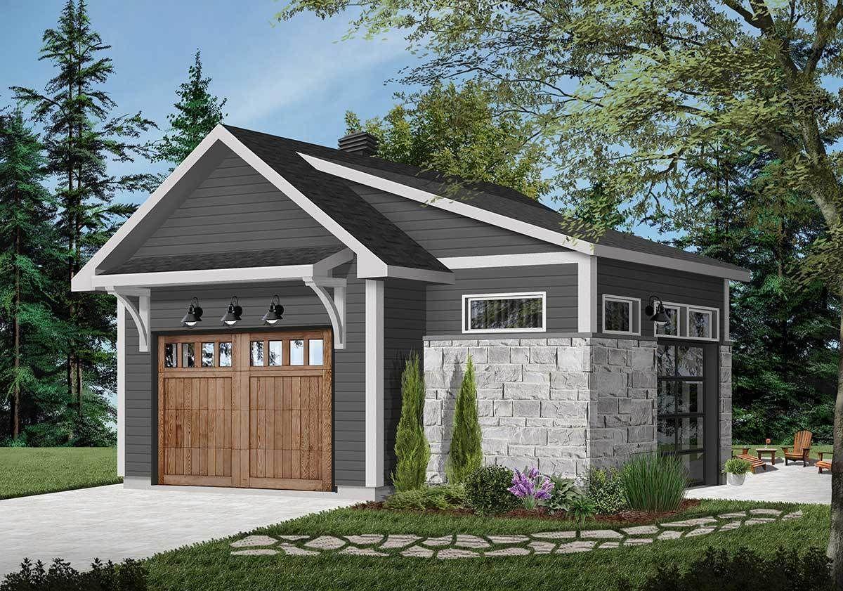 Plan 22505DR: Detached Garage Plan with Interior Work Space#22505dr #detached #garage #interior #plan #space #work #detachedgarage