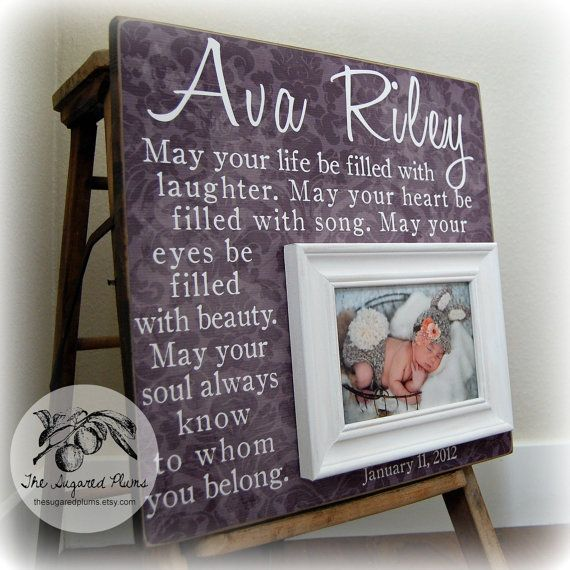 Baby picture frame personalized picture frames custom 16x16 may your baby picture frame personalized picture frames by thesugaredplums 7500 negle Images