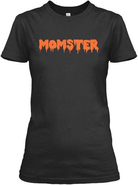 7b25147edf7 Momster Monster Halloween Shirt Black T-Shirt Front