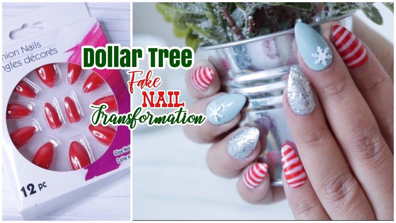 Dollar Tree Diy Fake Nail Transformation Diy Fake Nails Youtube Fake Nails Tree Nails Nails
