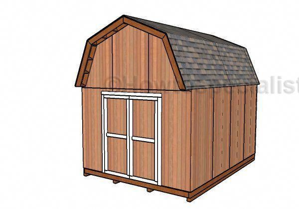 Photo of 12×16 Gambrel Shed Plans | HowToSpecialist – How to Build, Step by Step DIY Plans