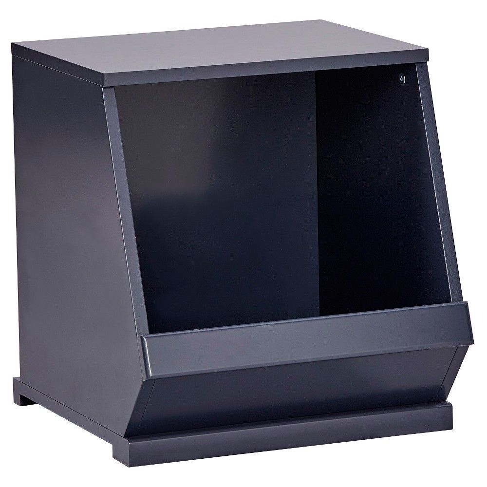 Kelly Modular Stackable Single Storage Cubby - Midnight Black - Inspire Q