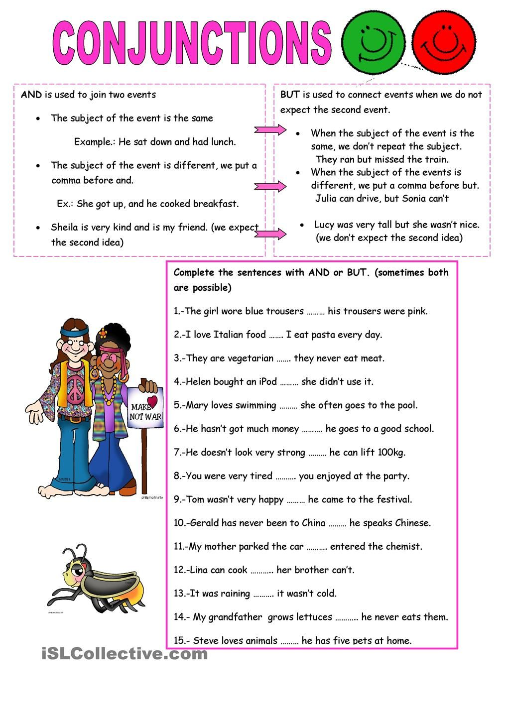 Conjunctions And But Conjunctions Worksheet Grammar Worksheets English Grammar Worksheets [ 1440 x 1018 Pixel ]