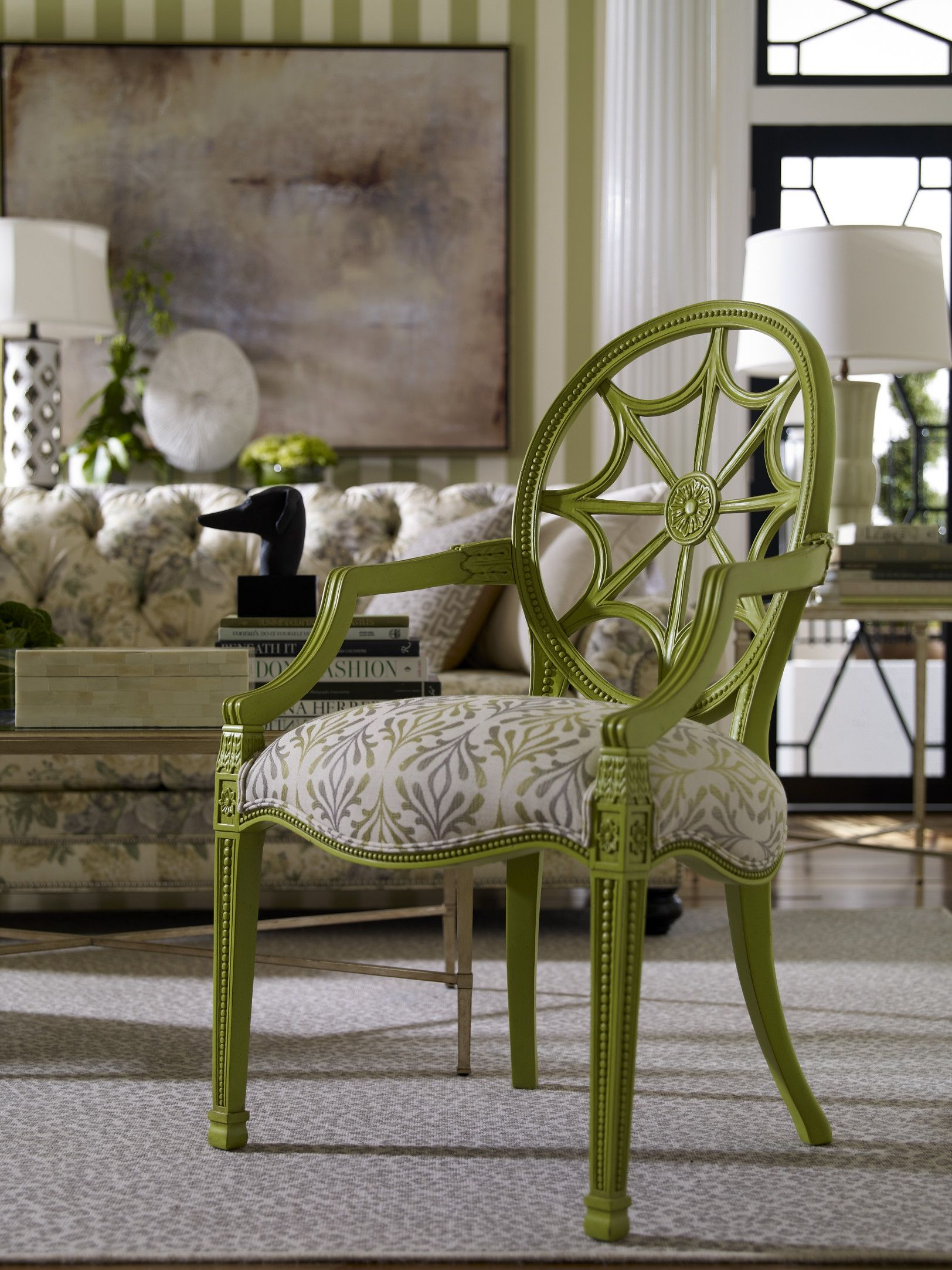 The Cristal chair in Apple Green So