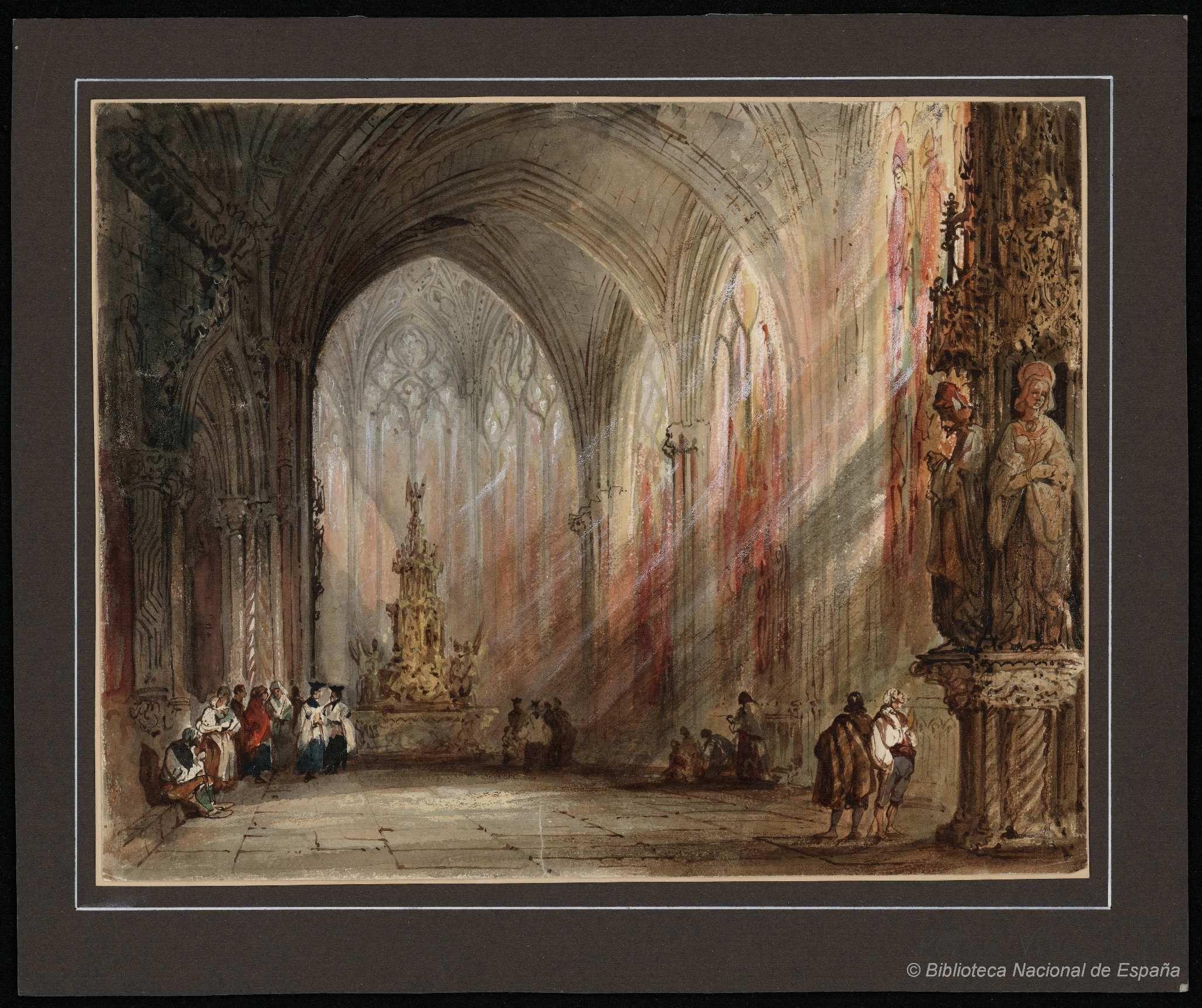 Nave de una iglesia gtica Prez Villaamil Jenaro 18071854