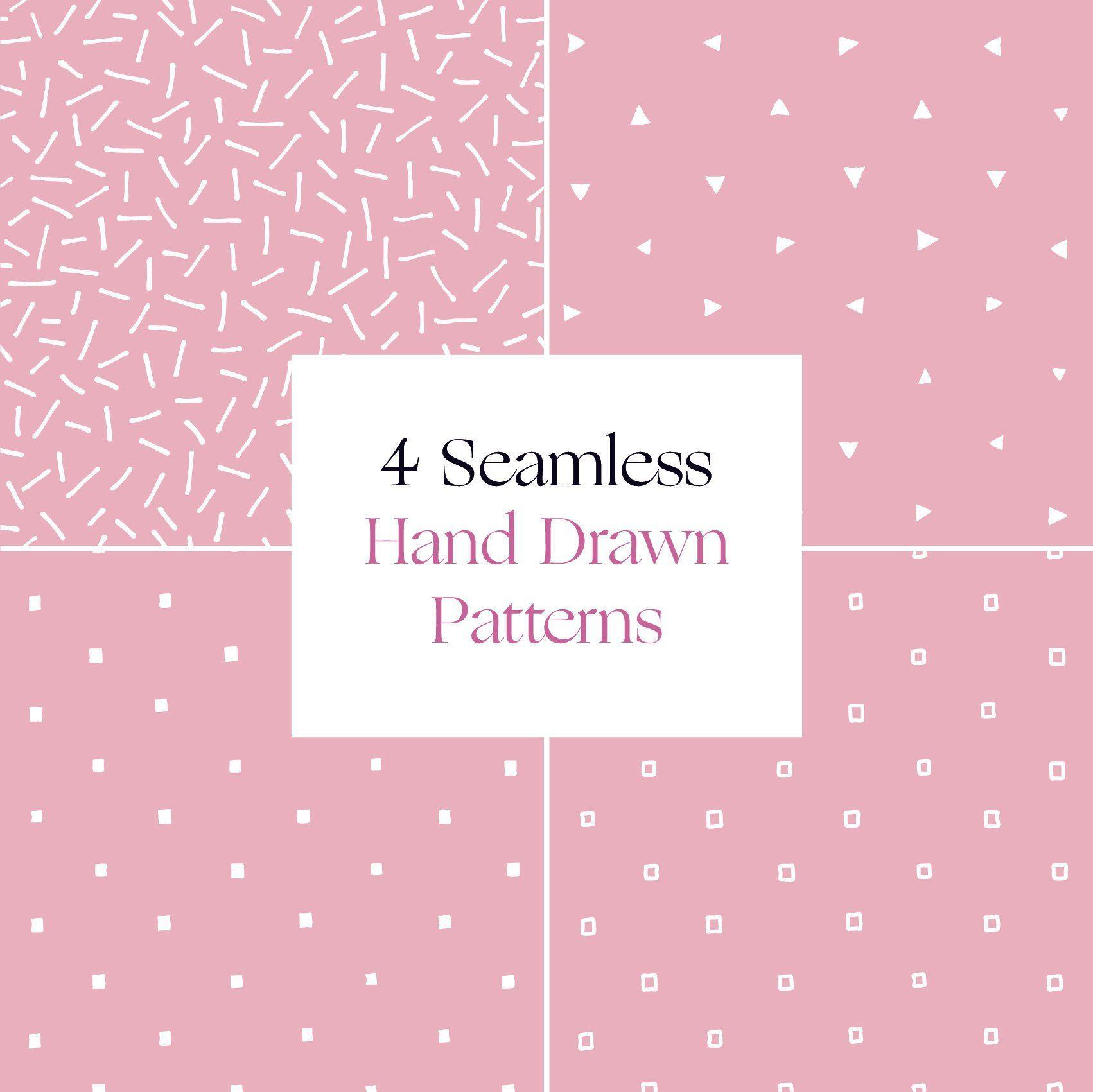 Seamless Hand Drawn Patterns – Printable Background Digital