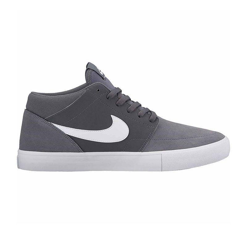 Nike SB Portmore II Mid Summit White & Black Skate Shoes White, Mens Skate Shoes Mens, Skate Shoes