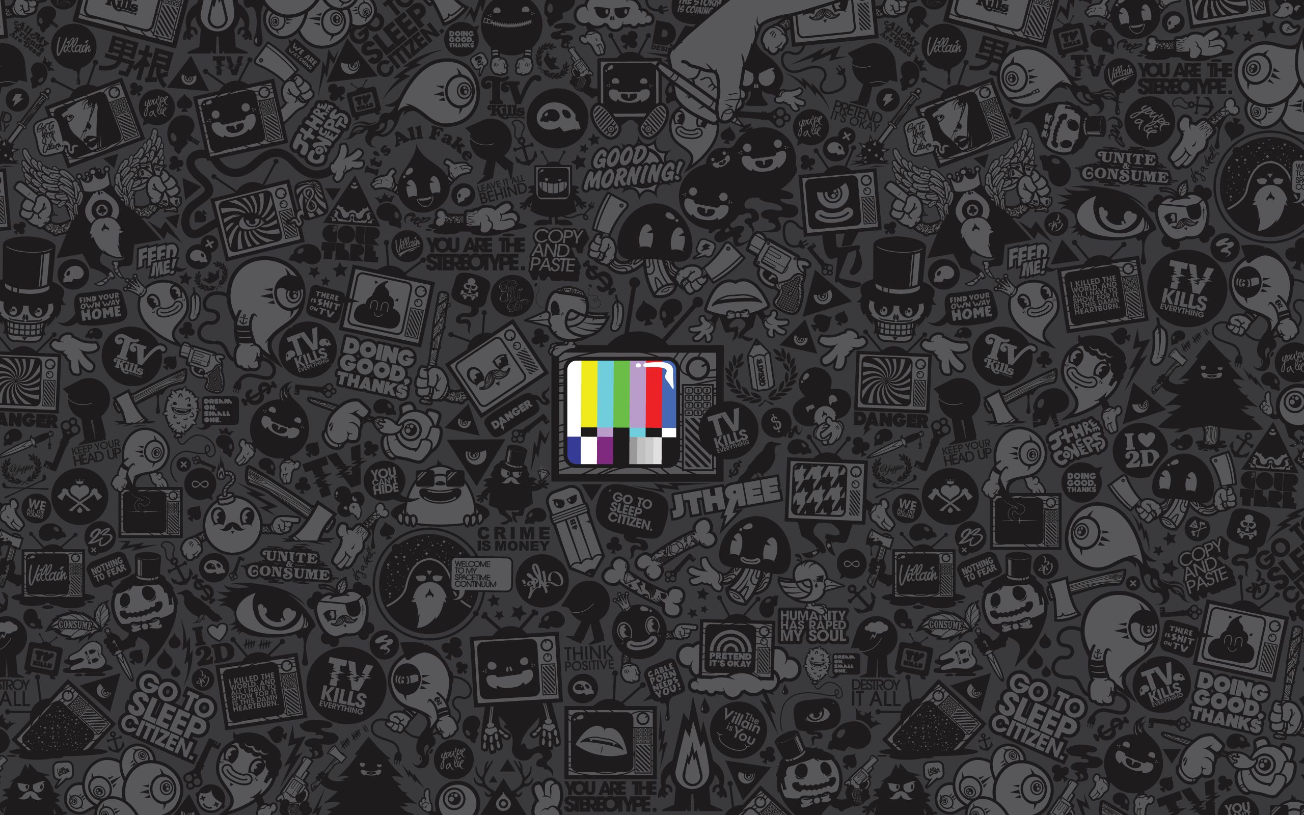 TV Kills Everything Cool wallpapers for mac, Funky