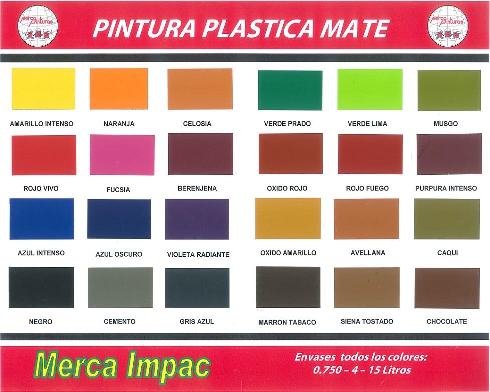 Pintura Plastica Merca Impac Carta De Colores Carta De Colores Pintura Pintura Para Plastico
