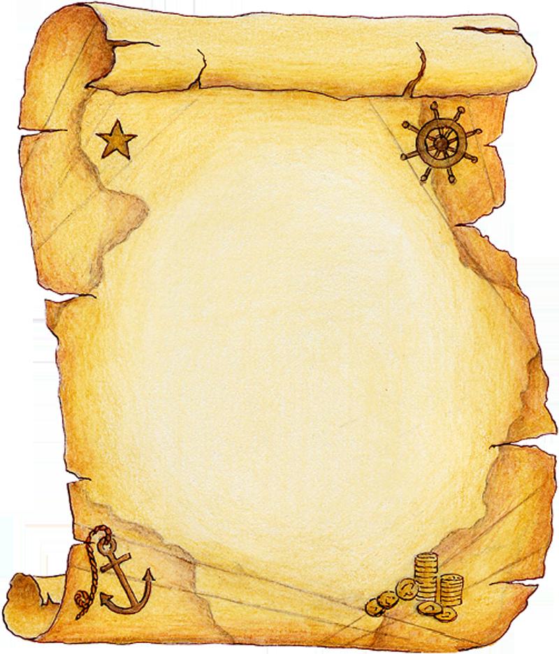 Открытка в виде пергамента