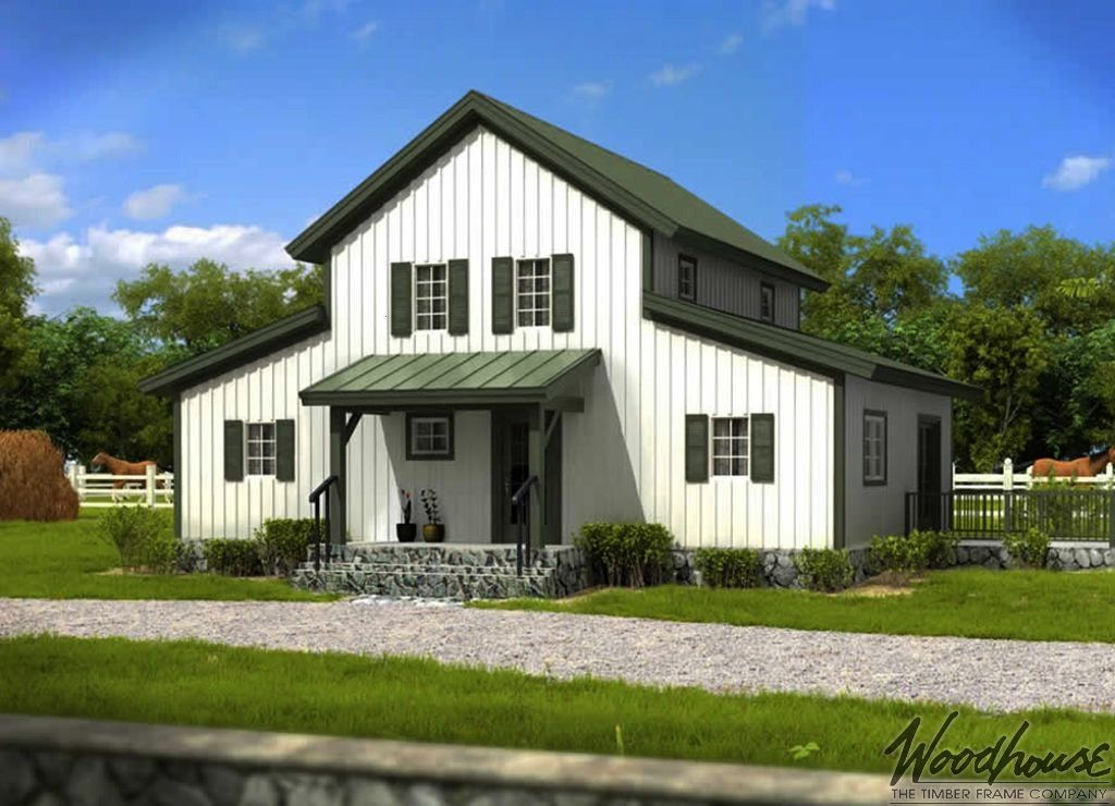 Woodhouse The Timber Frame Company PrairieView  Woodhouse The Timber Frame Company  This small Ranch house plan features three bedrooms and two full baths Cute elevation...