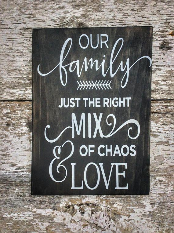 Our Family Sign, Blended Family Wedding Gift, Farmhouse