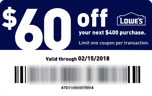 $60 off of $400   Diy's   Lowes coupon, Lowes coupon code