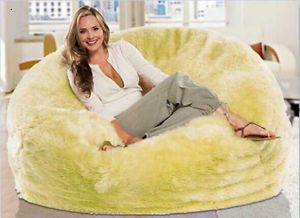 Large Luxe Faux Fur Soft Plush Beanbag Cover Bean Bag Lemon Yellow Free Liner Measurement 140cm In Bean Bag Chair Bean Bag Chair Pattern Bean Bag Furniture