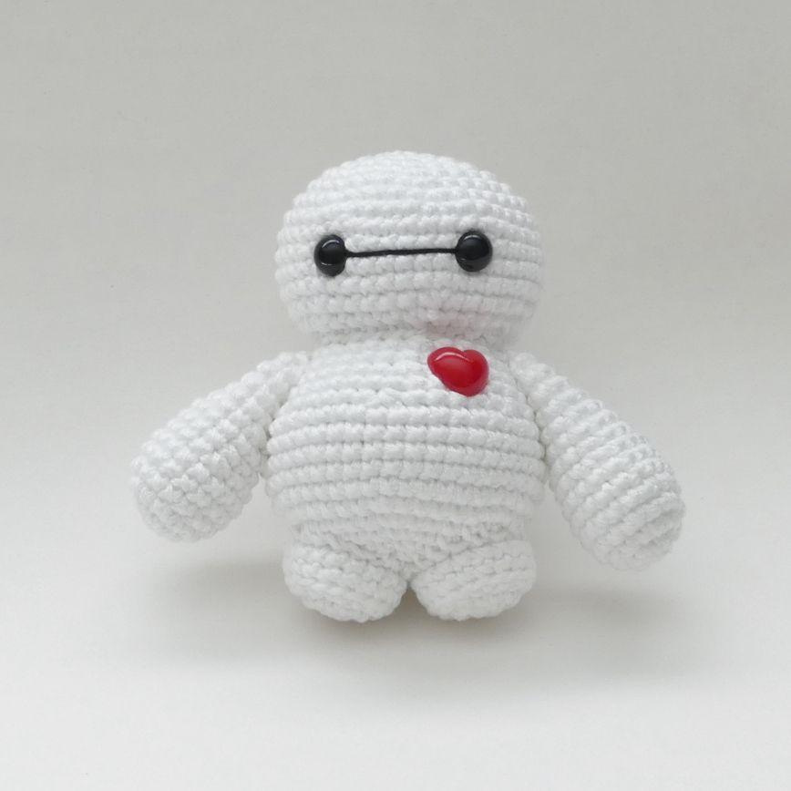 Amigurumi Tiny Baymax - Free Pattern | Knit and crochet | Pinterest ...