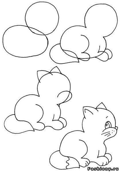 картинки рисовать пошагово