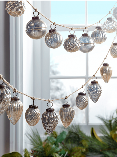 Christmas Tree Decorations, Traditional Gold & Silver Glass Baubles UK