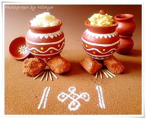 Miniature Pongal Pot Decor Sankranthipongal Indian