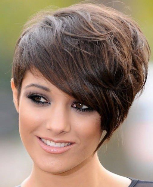 short hairstyles for thick curly hair round face Short Short Hair