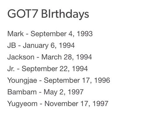 Bambam Youngjae And Got7 Image Got7 Got7 Birthdays Exo Birthdays