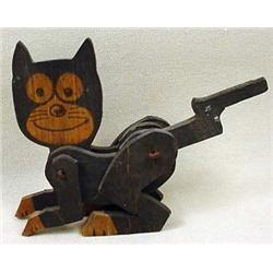 Vintage Felix The Cat Wooden Mechanical Toy   Wooden toys
