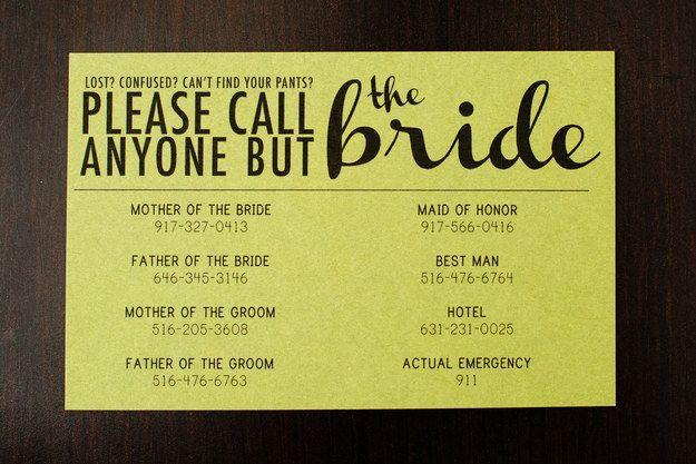 Diese brillante Art, eine klare Botschaft zu senden.   – Wedding Ideas