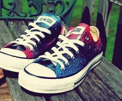 Galaxy converse, Galaxy shoes, Converse