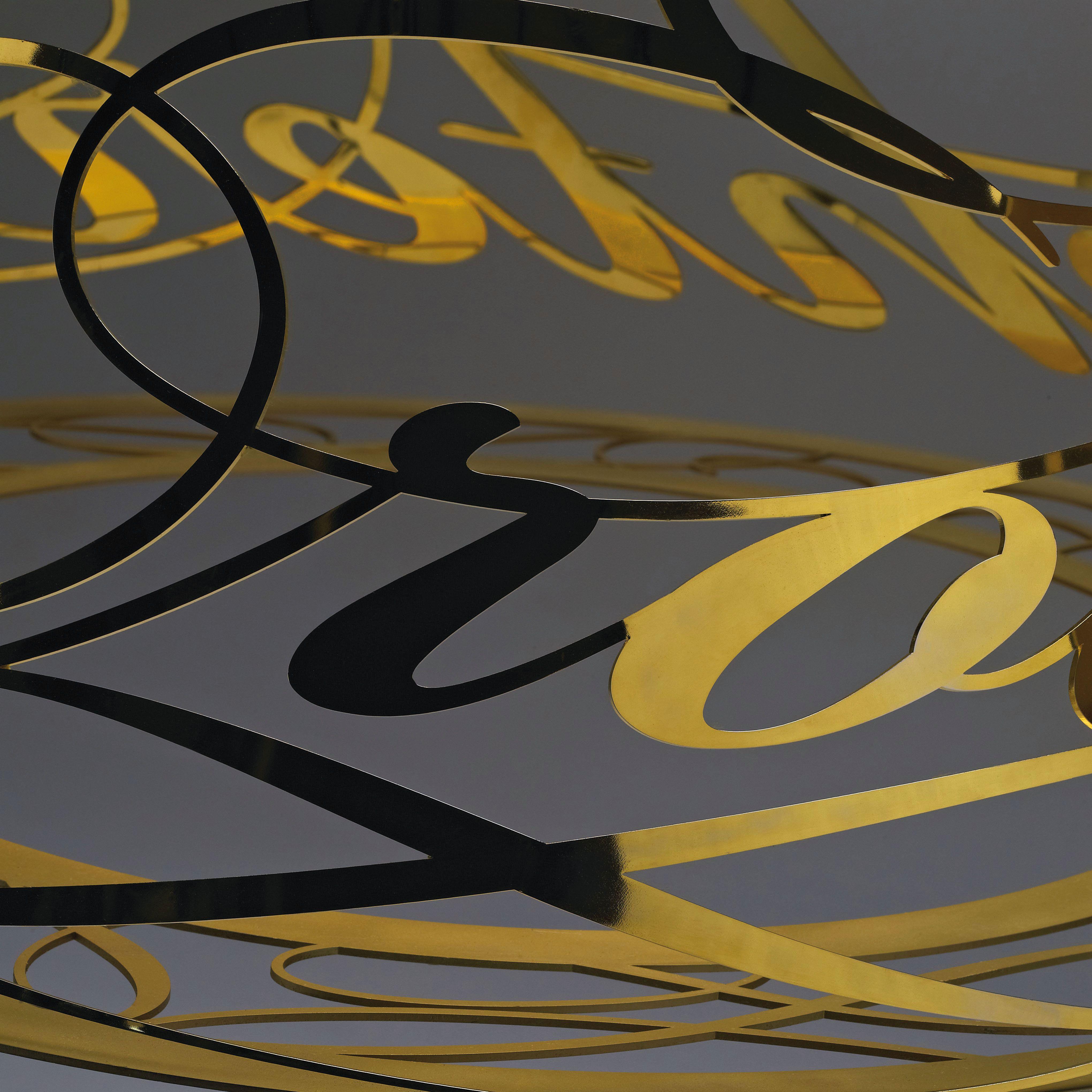 Idée Fixe detail in gold. By Jacco Maris. #dutch #design #steel  #jaccomaris #jaccomarisdesign #Breda #handmade #lights #lightfixture #lamps #interior #lightfixtures #interiordesign #armaturen #designhanglamp #designlampen  #lampen # ideefixe #suspension #suprisingly shadow #gold