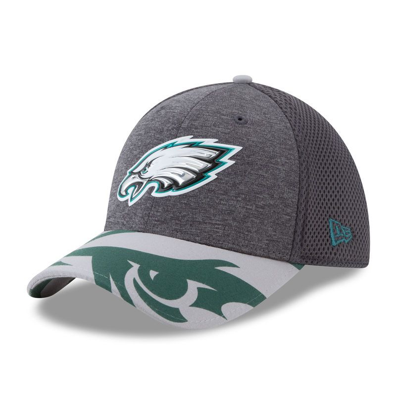 0f3ad2769e2 Philadelphia Eagles New Era 2017 NFL Draft Spotlight 39THIRTY Flex Hat -  Graphite