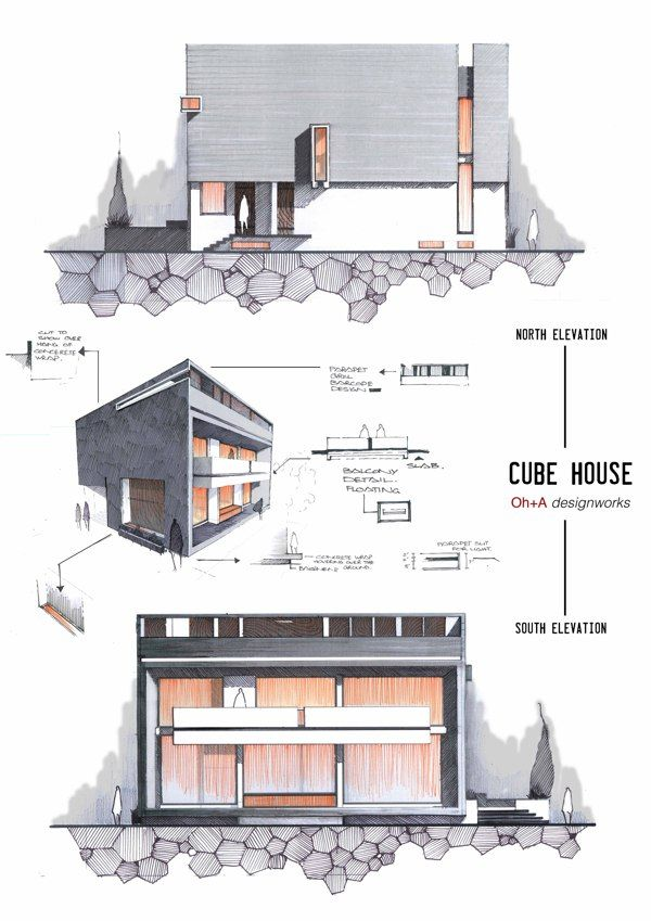Elevations By Anrique Azhar Concept Architecture Architecture Architecture Design