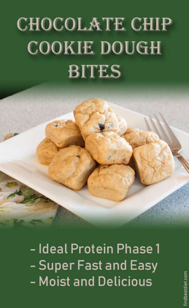 Chocolate Chip Cookie Dough Bites - Ideal Protein Phase 1 - Find Best Diet.Com