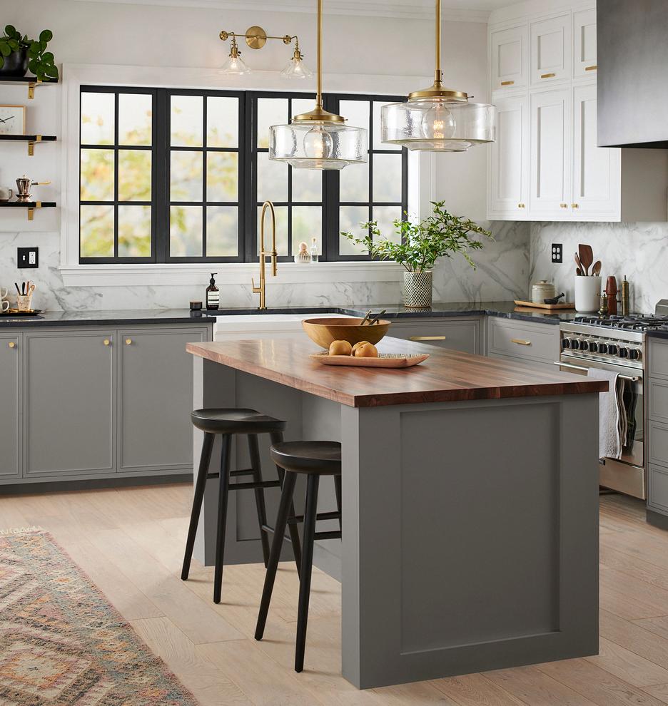Grandview Double Sconce Rejuvenation Kitchencountertops Blackkitchen In 2020 Kitchen Layout Kitchen Design Trends Kitchen Trends