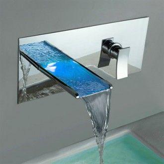 Sumerian S1289cm Led Waterfall Bathroom Sink Faucet