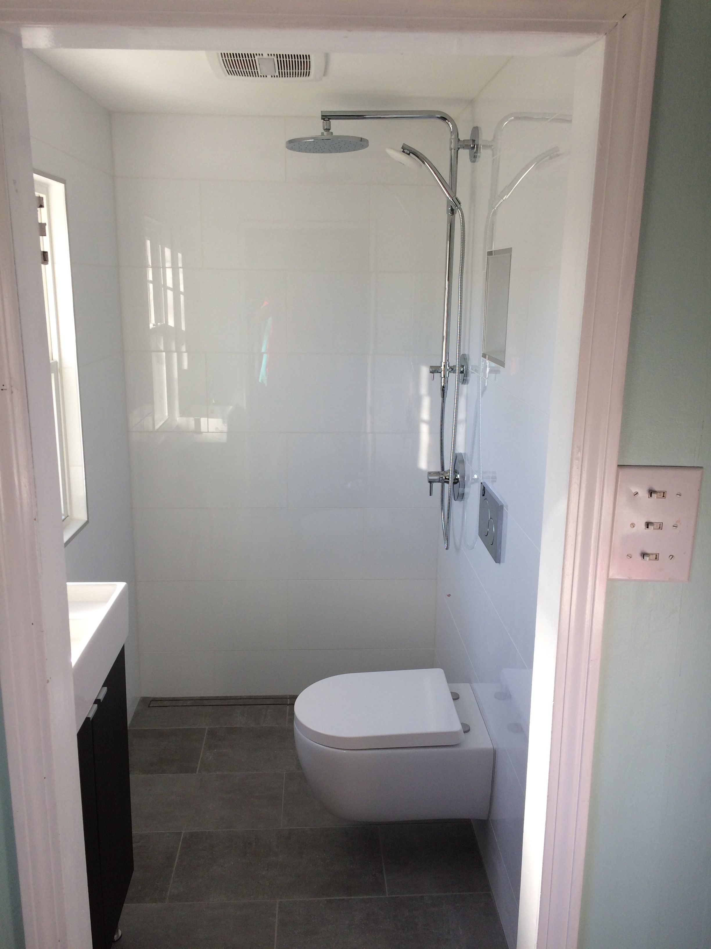 Conversion: Gutted 4 x 6 foot half bath that was formerly ...