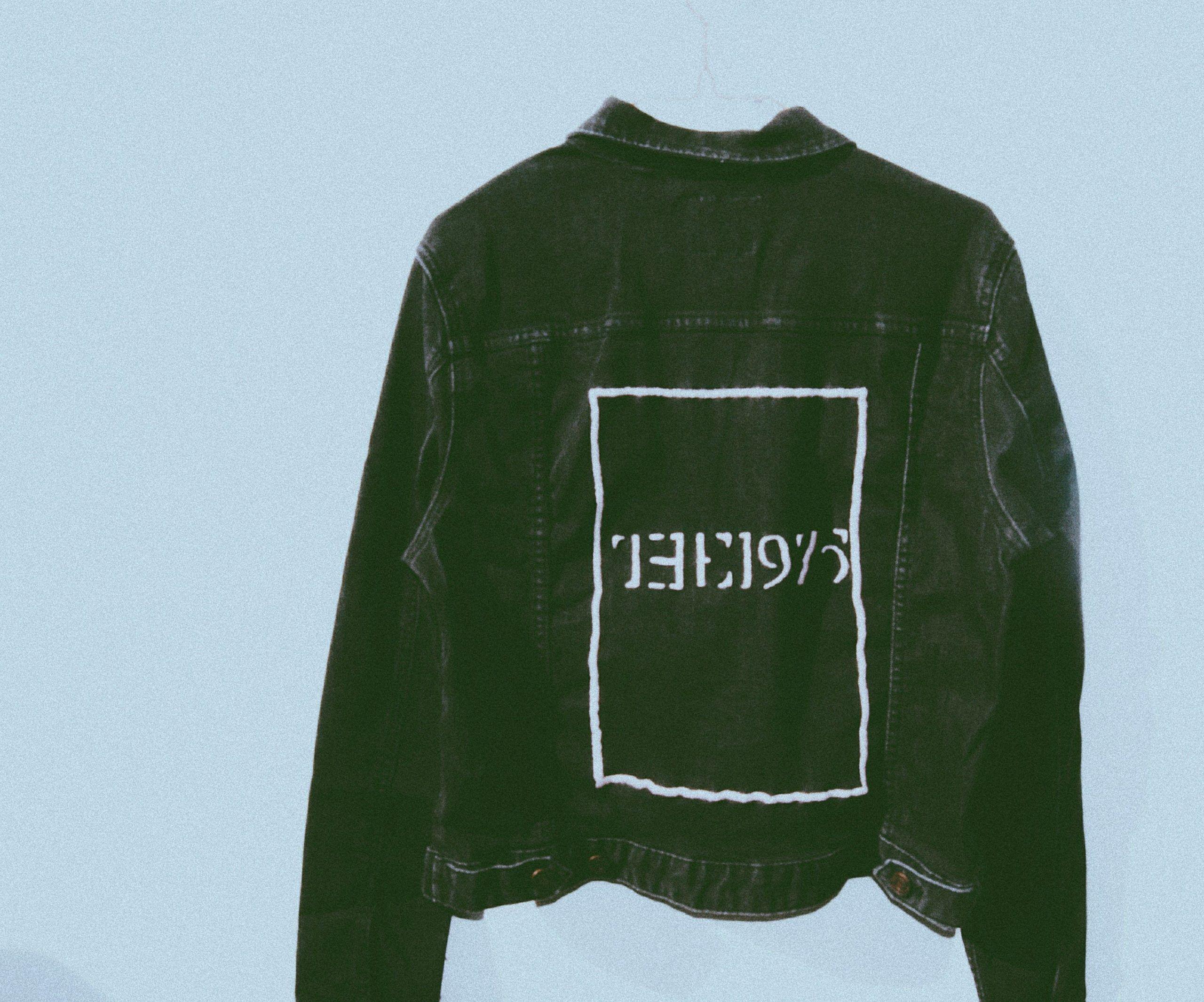 The 1975 custom made hand embroidered denim jacket #diy #embroidery #the1975 #cu...#custom #denim #diy #embroidered #embroidery #hand #jacket #the1975