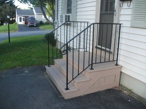 Exterior railings for steps aluminum exterior interior - Exterior wrought iron handrails for steps ...