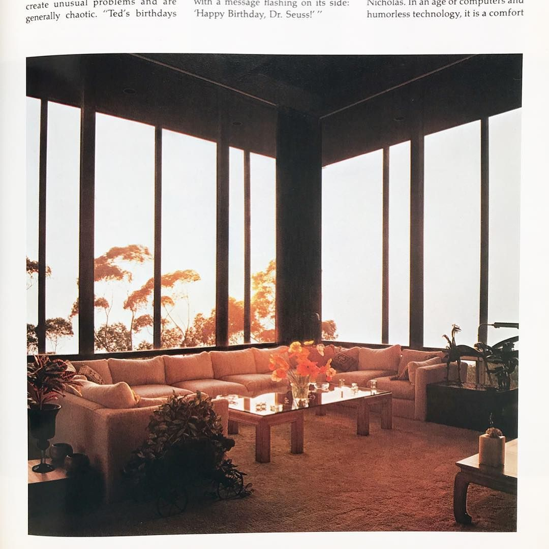 Dr And Mrs Seuss S Living Room In La Jolla From Architectural Digest 1978 Vintage Interior Design Retro Interior Design Retro Interior