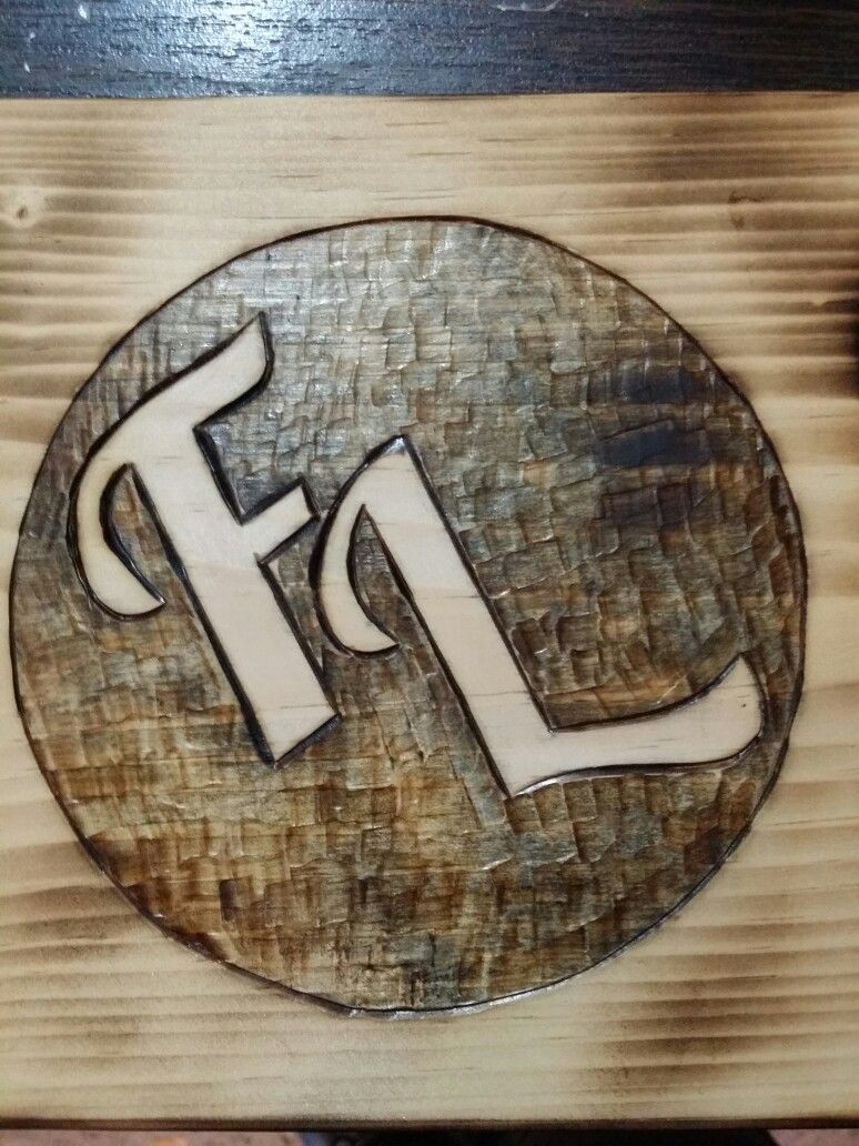 We can make custom logos for ink transfers or hand wood