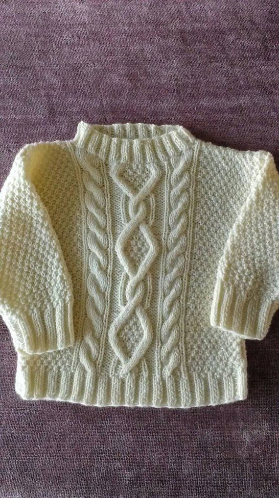 "Aran sweater ""Little Fisherman"". 