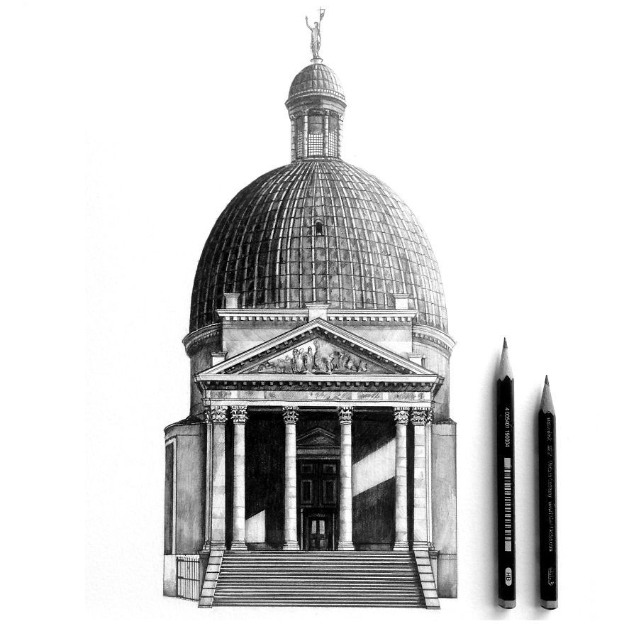 Architecture Drawing Pencil 7 photorealistic architectural pencil drawings- 2 | draw & sketch