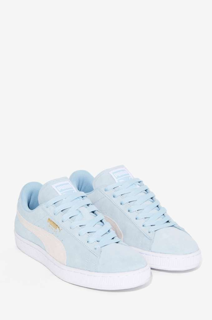 Baby blue Puma Suede Classic Sneaker Shoes | Sneakers