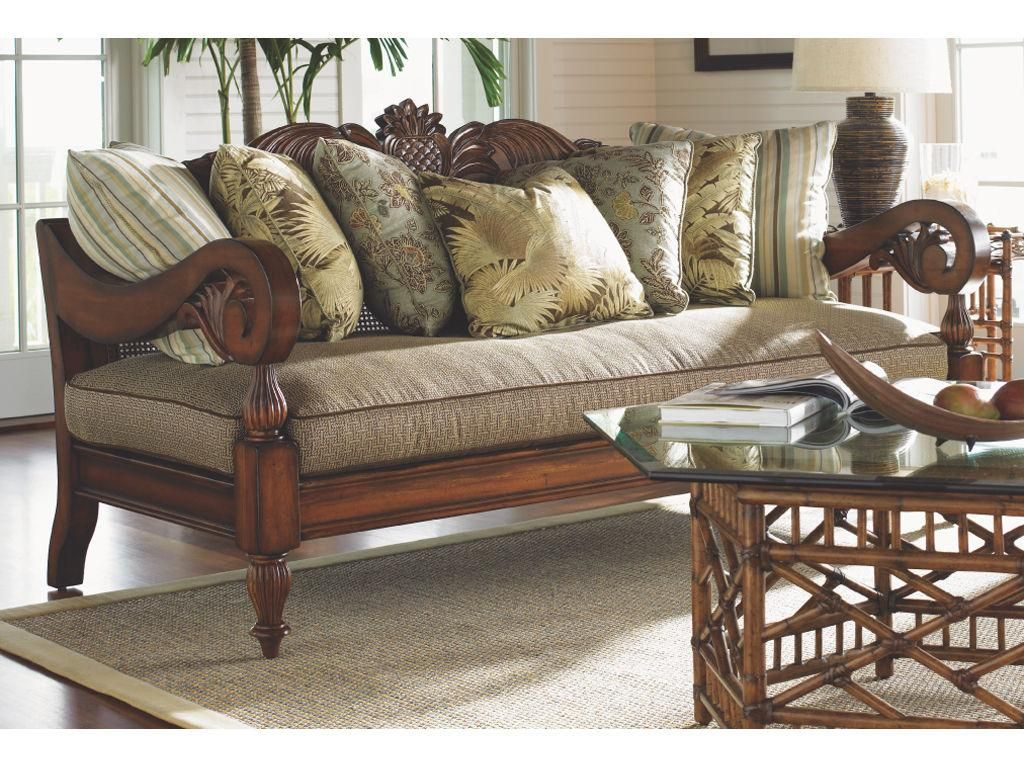 Big Sofa Colonial Tommy Bahama Island Estate Collection Paradise Cove